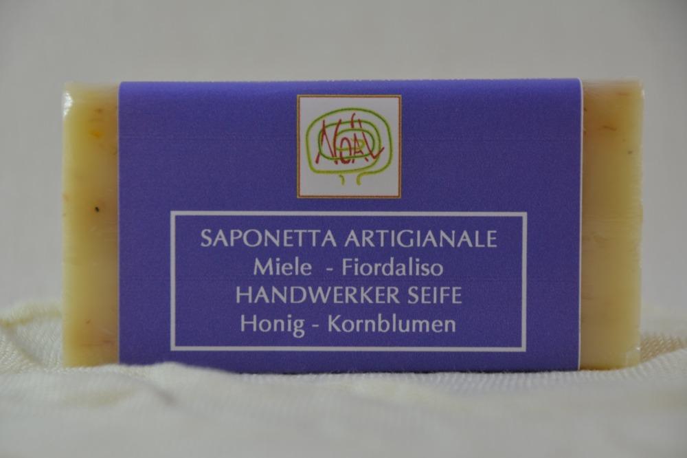 Handwerklich erzeugte Seife- Kornblume - 1