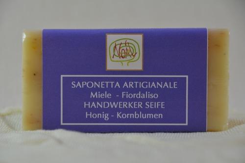Handwerklich erzeugte Seife- Kornblume